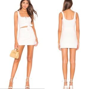 Privacy please NWOT white cut out mini dress M